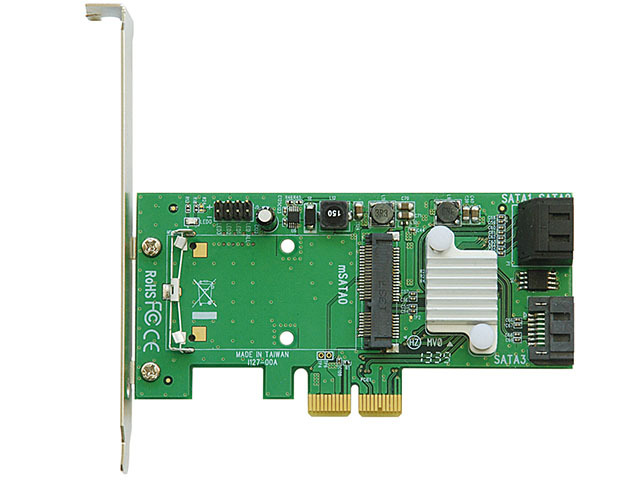 SATA増設カード「SATA3RI3+mSATA-PCIe」