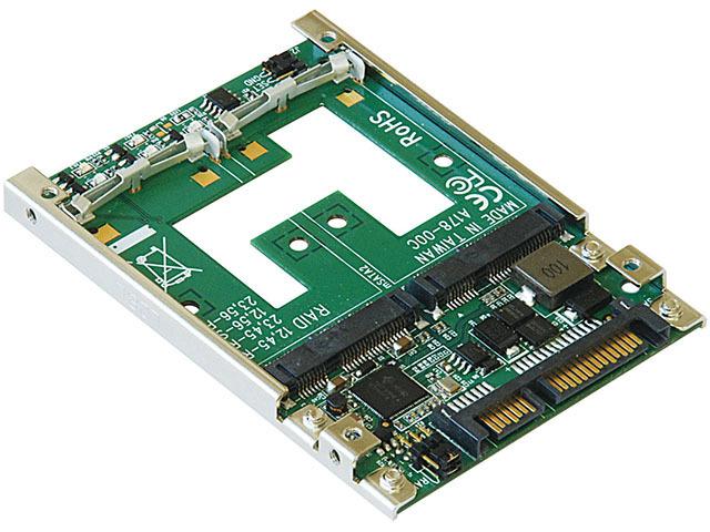 mSATA-SATA変換カード「KRHK-mSATAX2/S7」
